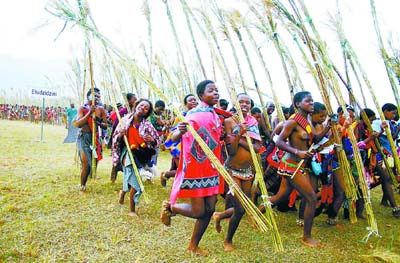 SWAZILAND-REED DANCE-FEATURE